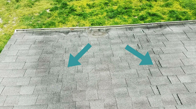 Roof Failure Bunched Shingles