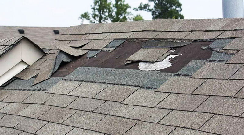 Leaking Roof Damaged Shingles