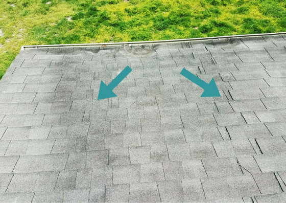 Bunched Roof Shingles