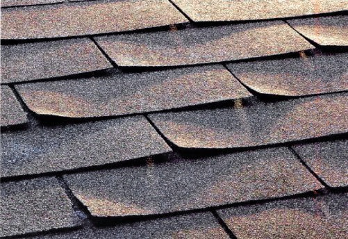 Curled Roof Shingles