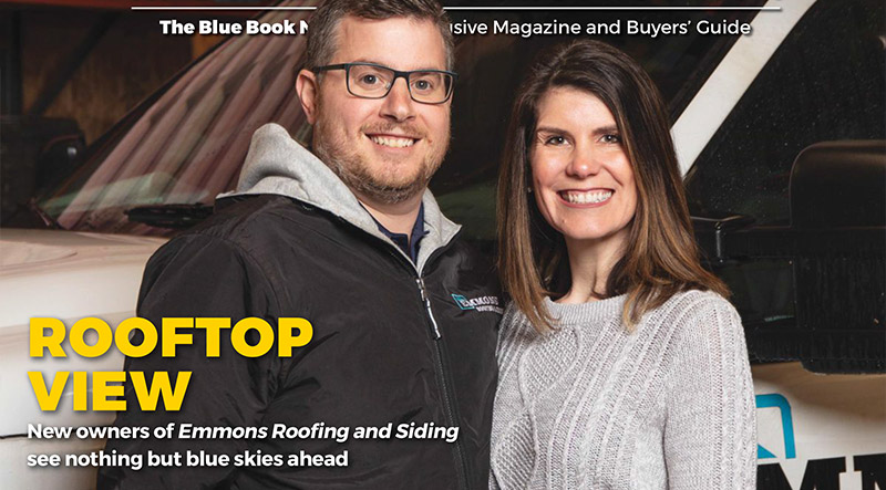 Blue Book Magazine Feature - Emmons Roofing & Siding