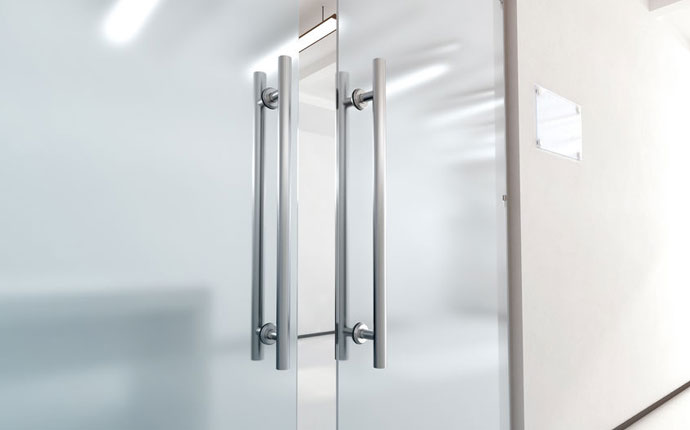 Commercial Aluminum Door with Glass
