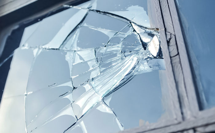 Storm Damaged Commercial Windows