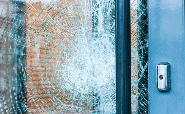 Storm Damaged Entry Door