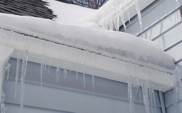 Ice Dam Gutter Repair