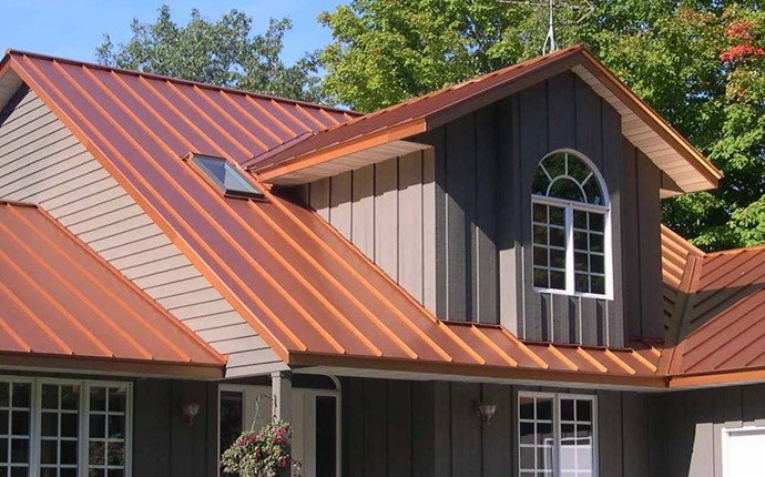 Copper Metal Roof Replacement