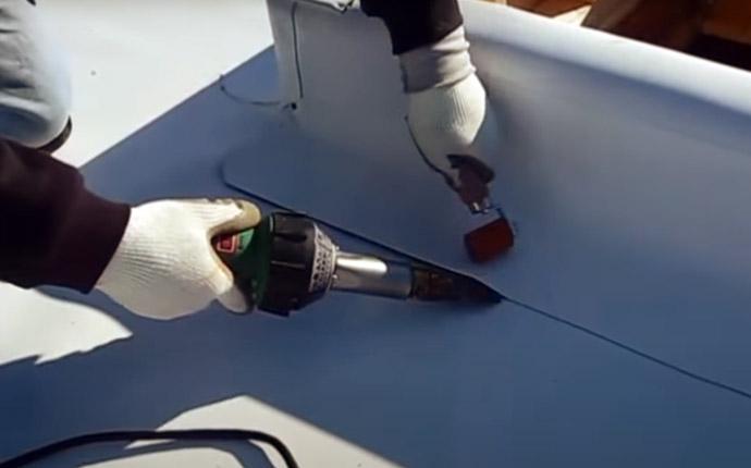 TPO Plastic Flat Roof Replacement